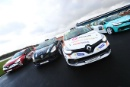 Lorcan Hanafin (GBR) Team Pyro Renault Clio Cup Junior, Loius Doyle (GBR) Jamsport Renault Clio Cup, Nicholas Reeve (GBR) Specialized Motorsport Renault Clio Cup Junior and Gustav Burton (GBR) Team Pyro Renault Clio Cup Junior