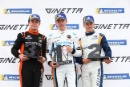 Podium Jonny Wilkinson Elite Motorsport Ginetta Junior Louis Foster (GBR) Elite Motorsport Ginetta Junior James Taylor Ginetta Junior