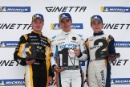 Podium Adam Smalley Elite Motorsport Ginetta Junior Louis Foster (GBR) Elite Motorsport Ginetta Junior Luke Browning (GBR) Richardson Racing