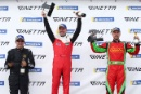 Race 2 Am Podium (l-r) Colin White CWS 4x4 Spares Ginetta G55, Michael Crees Century Ginetta G55, Jack Minshaw Hart GT Ginetta G55