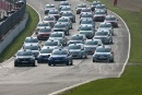 Ed Pead Leads at the start of the new for 2007 Renault Clio Cup